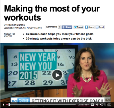 CNN's Weekend Express HLN: The Exercise Coach Helps You Meet Your Fitness Goals