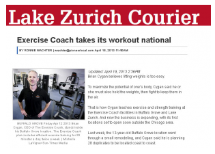 Chicago Sun Times Pioneer Press: Exercise Coach Takes Its Workout National