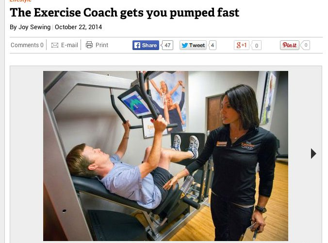News Reporter Experiences The Exercise Coach® Workout for First Time
