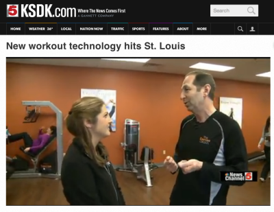 Don Eisenberg demonstated Exercise Coach fitness technology on NBC St. Louis KSDK TV