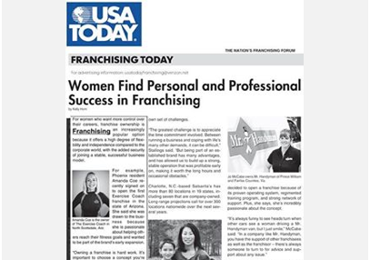 USA Today: Women in Franchising Featuring Amanda Coe